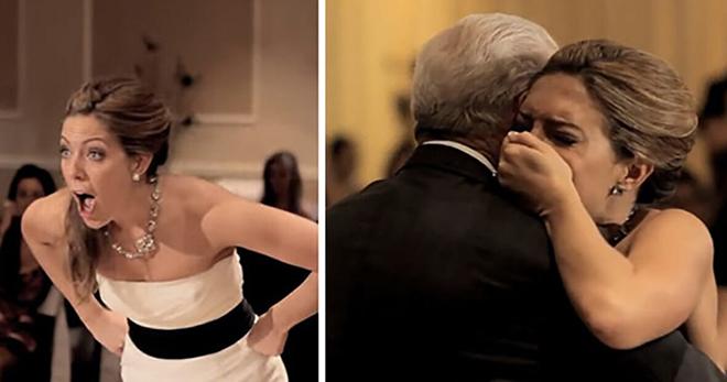 Отец невесты умирает за несколько месяцев до свадьбы. Когда она оборачивается в церкви, не может поверить своим глазам