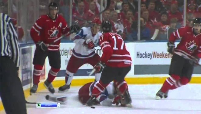 Канадцы уже праздновали победу, но тут завелась Красная машина. 5 шайб за 20 минут?