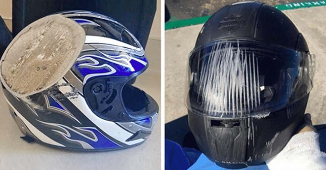 Эти фотографии лишний раз доказывают, что надевать шлем действительно очень важно