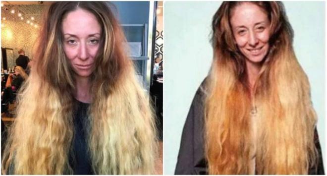Мастер обрезал ей волосы почти в ноль и превратил в яркую красотку