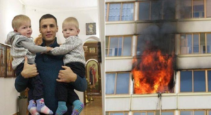 Пожарный из Самары спас близнецов, а потом стал их крестным отцом