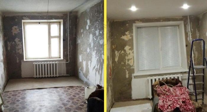 Ко дню рождения мамы дети сделали ей ремонт в старенькой спальне в хрущевке