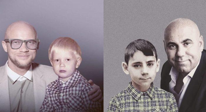 Российский фотошопер Абжат продолжает объединять фото молодых и нынешних знаменитостей