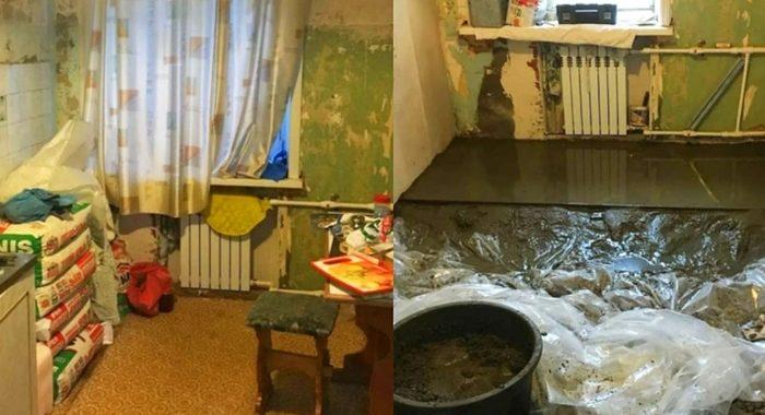 Муж сделал в подарок жене ремонт кухни. Получилось стильно и удобно!