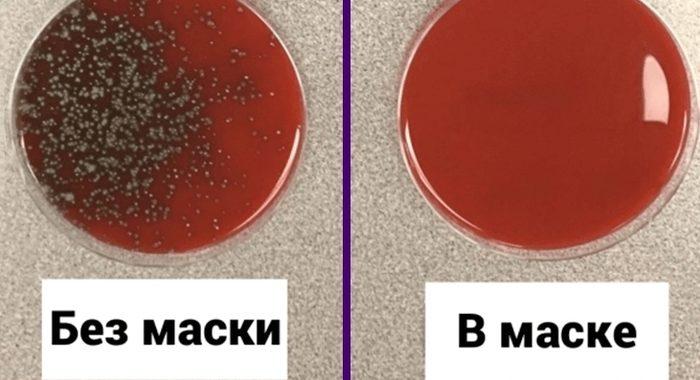 «С маской и без» — ученый показал наглядную разницу распространения бактерий